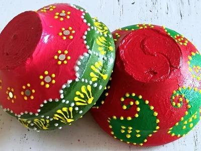 Diya Decoration ideas for Diwali |Beautiful Diwali Decorations |DIY- How to Diya Decoration at Home