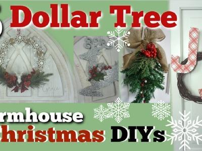 Dollar Tree Christmas DIY Farmhouse Decor | 5 Christmas Decor Ideas | Momma From Scratch