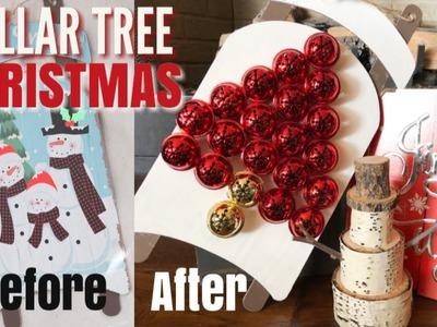 DOLLAR TREE CHRISTMAS DIY | RUSTIC CHRISTMAS DECOR | DIY CHRISTMAS SLEIGH