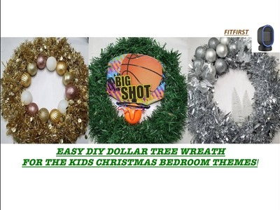 DOLLAR TREE DIY FOR KIDS CHRISTMAS THEMED BEDROOMS! FITFIRTST