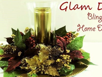 Dollar Tree DIY Glam Christmas Candle Centerpiece