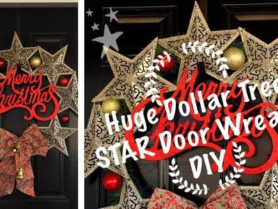 Dollar Tree DIY | Huge Star Wreath | Day #2 of Six Days Of Christmas DIYs & Inspirations