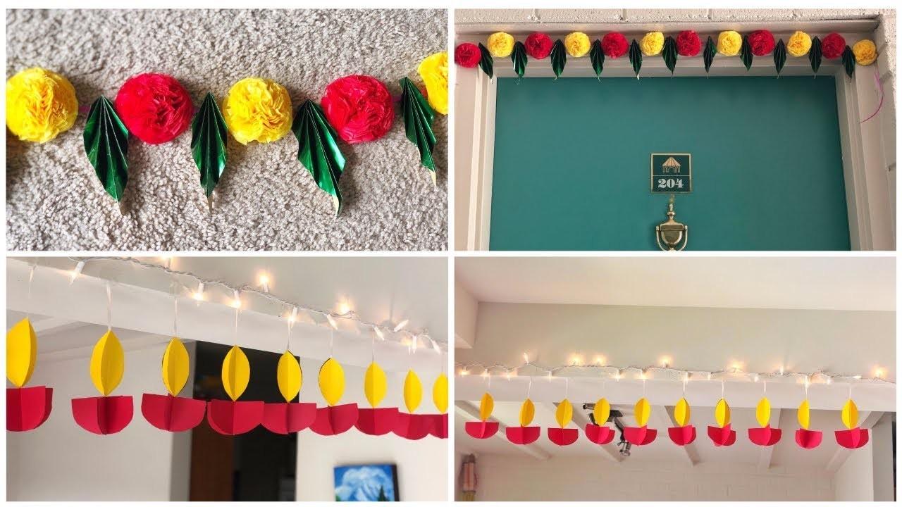 Easy Diwali Decoration Ideas, DIY Toran, Home Decorations ...