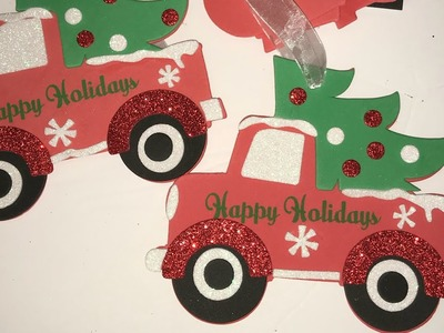 Easy DIY Little red truck ornaments for Kids!!!  Dollar General!