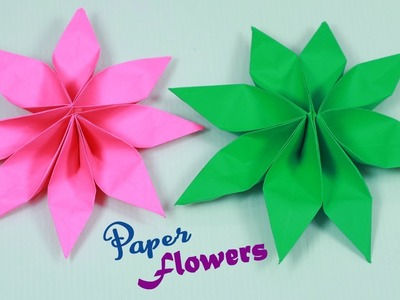 Easy Paper Flowers  || Paper Flower making || Paper Crafts || Paper Girl