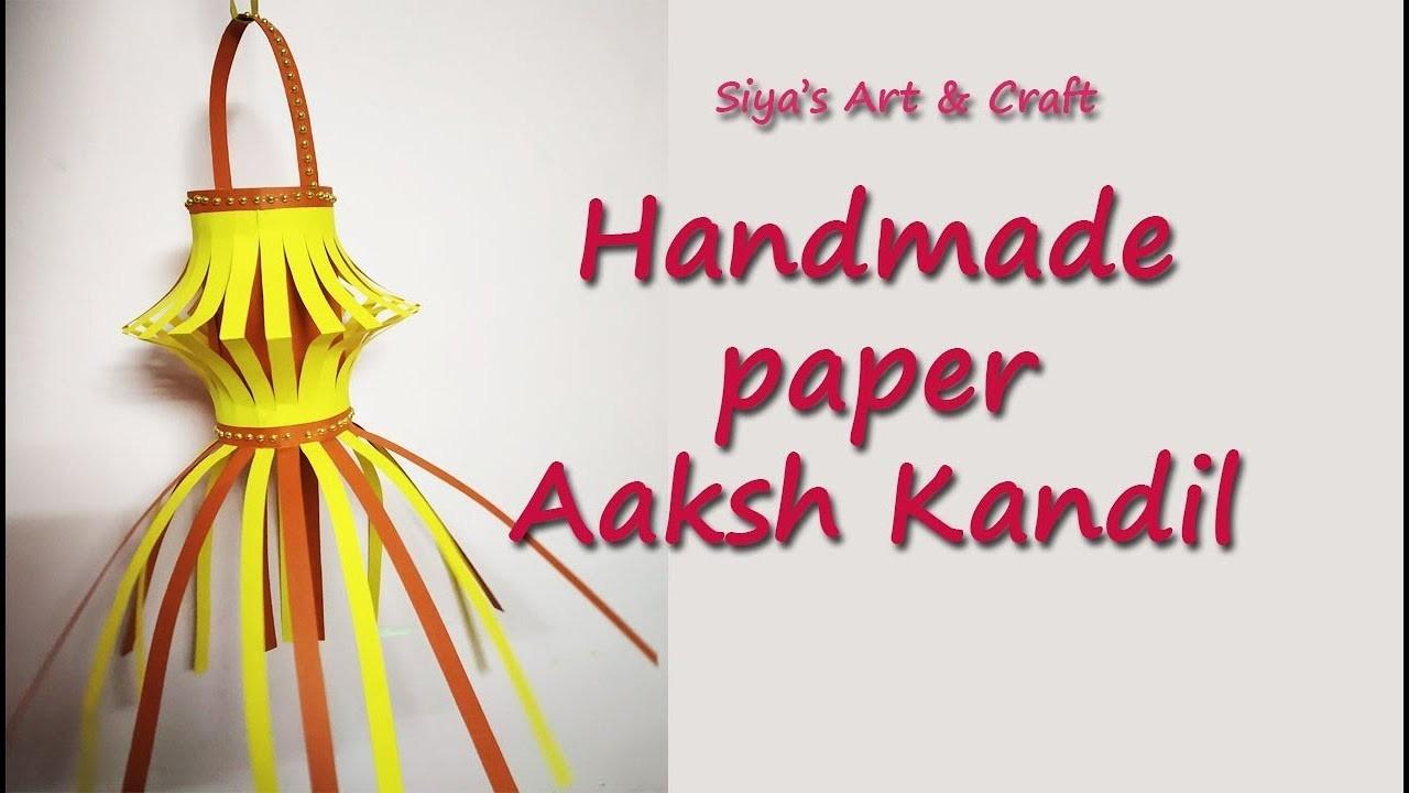Handmade paper aakash kandil. kids craft paper lanterns. diwali home decoration ideas