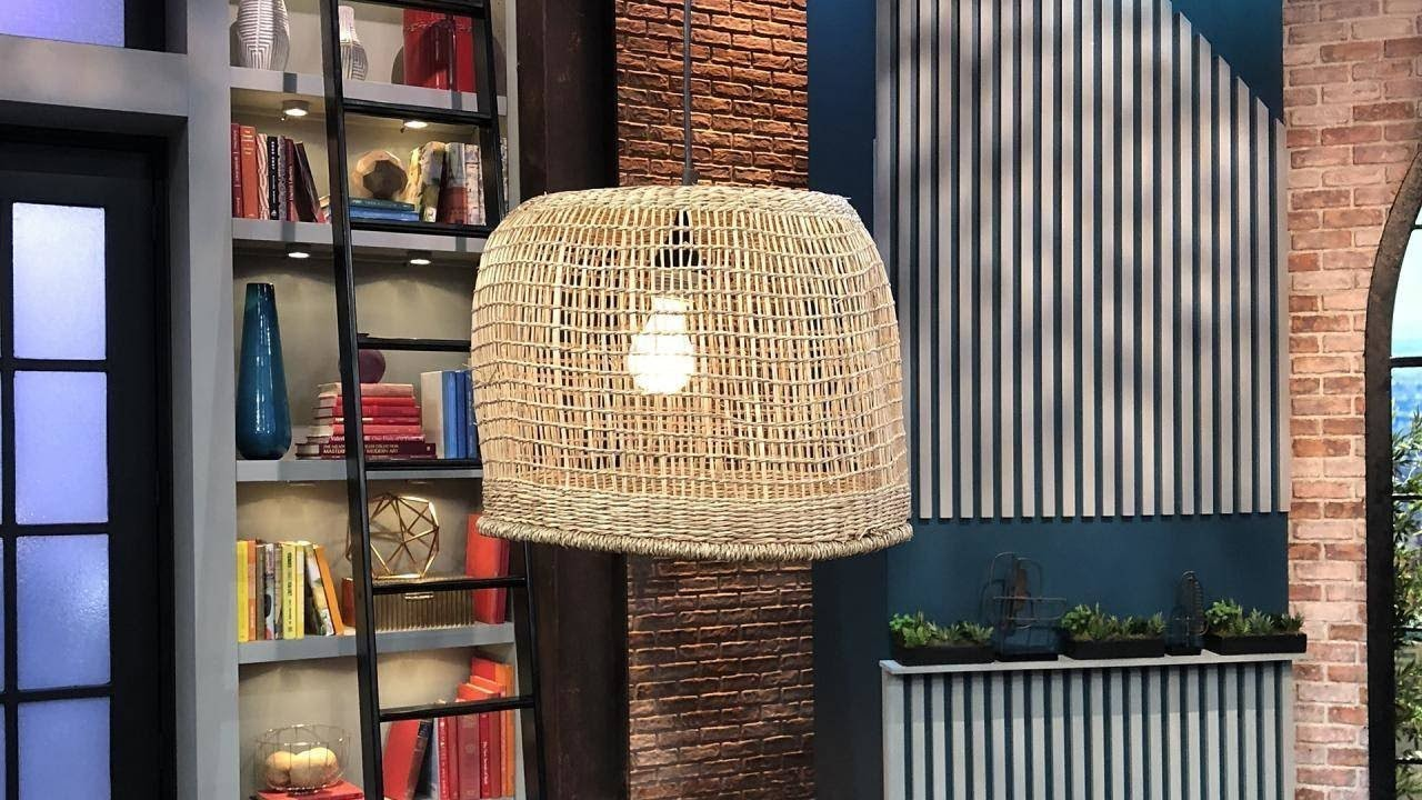 How to DIY a $600 Basket Pendant Chandelier For Way Less Money