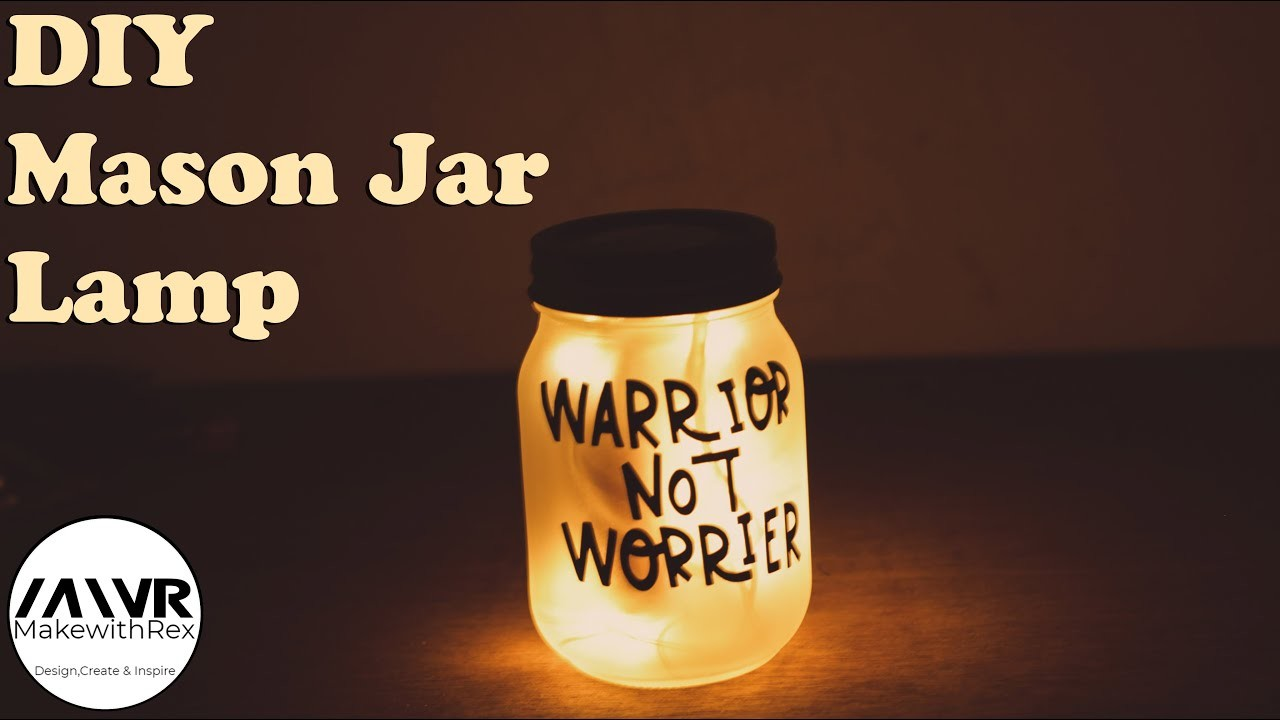 How to make a Mason Jar Lamp || DIY Mason Jar Lamp || Diwali Decoration 2018