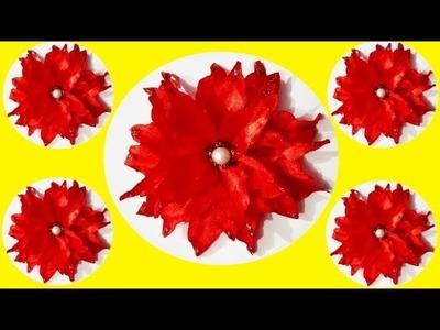 How to make best satin ribbon flower 2 || how to make kanzashi flower