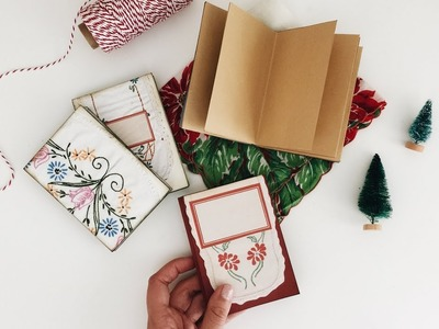 Last Minute DIY Christmas Gifts | DAY 5.12 | No Sew Notebook