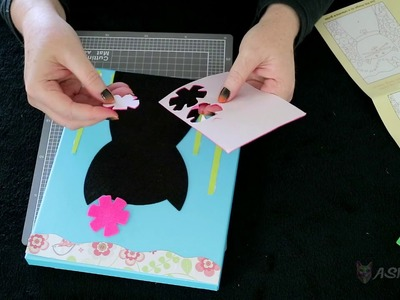 Making a cute cat collage with felt and paper | ASMR Art & Craft | No talking