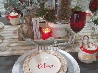 My Christmas My Style 2018 Collab. DIY Modern Farmhouse Christmas Tablescape