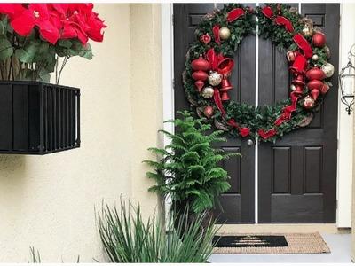 NEW! DIY Oversized Door Wreath with The HomeDepot