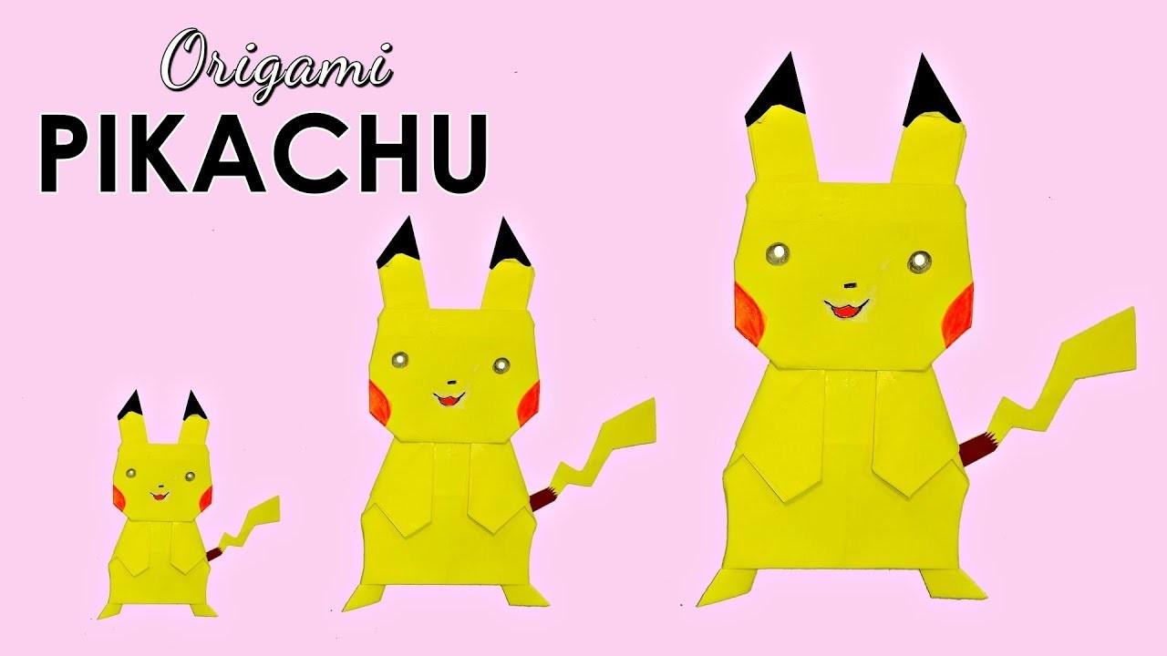 origami pikachu cute paper pokemon pikachu tutorial