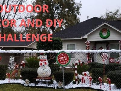 Outdoor Christmas Decor DIY Challenge