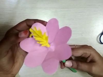 PAPER FLOWERS || SIMPLE PAPER CRAFTS || DECORATION FLOWERS