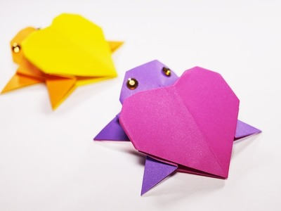 Paper Heart Turtle - Paper Crafts Origami