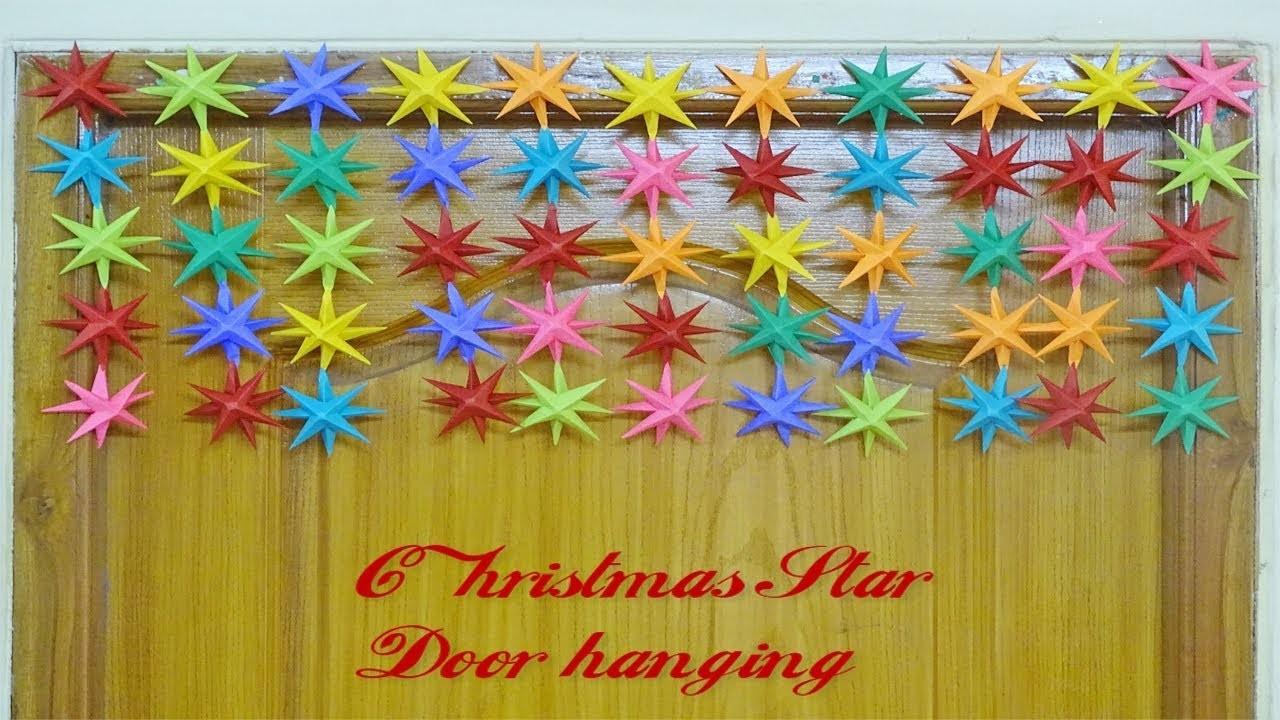 Paper ||  Paper Christmas Star door hanging || Door toran ||Toran tutorial || Siri Art&Craft ||