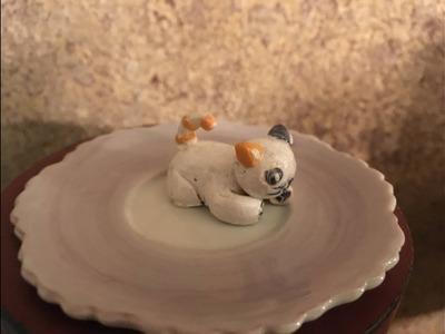 Polymer Clay Cat by Jenna @ CraftyKids Studio