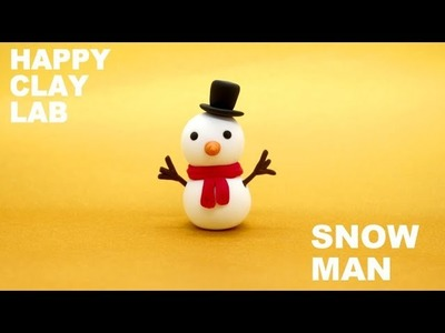 Polymer clay tutorial.How to make SNOWMAN.Picari clay
