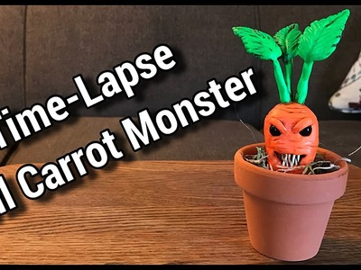 Time-Lapse - Evil Carrot Monster (Sculpted out of Polymer Clay)