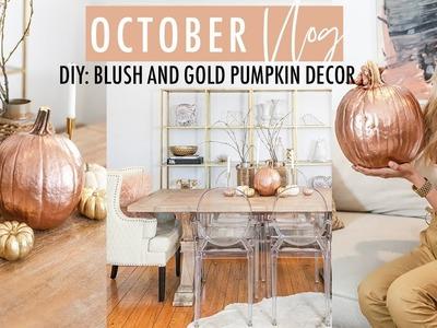 VLOG 01 - DIY: Gold Rose Pumpkin Decoration | My crush | Look Away Movie | Halloween Pumpkin Patch