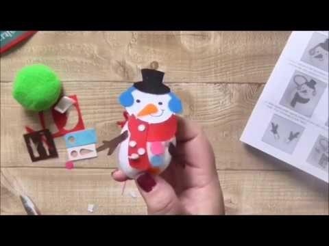 12 Hours of Christmas Crafts For Kids #4 Pom Pom Snowman