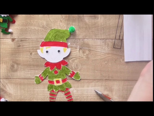12 Hours of Christmas Crafts For Kids #3 Colour In Character