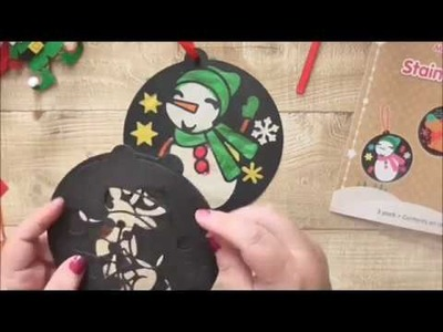 12 Hours of Christmas Crafts For Kids #2 Snowman Suncatcher
