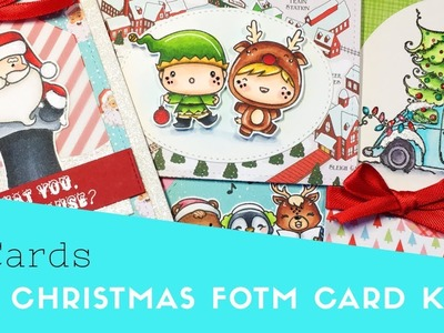 4 Cards | Flavor of the Month Card Kit | Scrapping for Less Christmas 2018