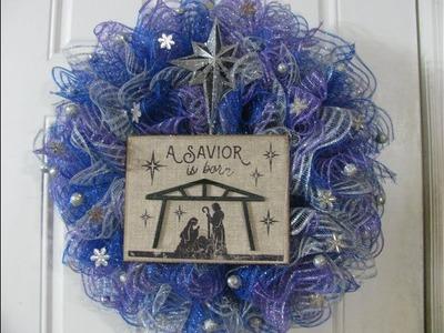 A Savior Is Born Christmas Wreath!
