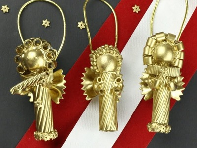 Beautiful and super easy Christmas ornaments made with Pasta! 2018
