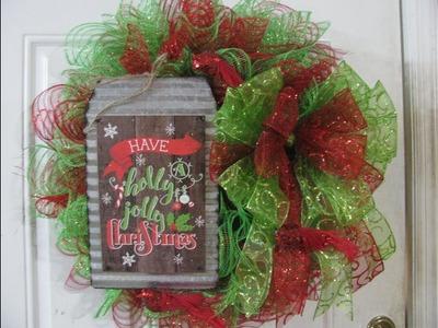 Carmen's Have a Holly jolly Christmas Wreath!