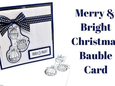 Christmas Bauble Card | Christmas Workshop 2018