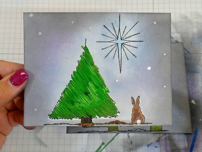 Christmas Bunny with Blue Knight Stamps