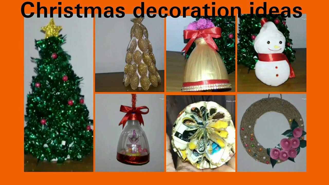 Christmas Decoration Ideas Homemadechristmas Decor With Waste Materials At Homeunique