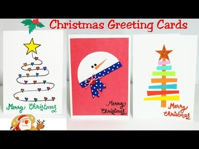 Christmas Greeting Cards. 3 Christmas Card For Kids.Handmade Christmas Card Making.Craft for kids