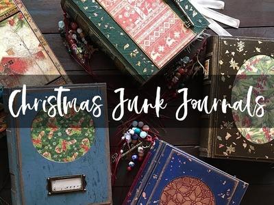 Christmas Junk Journals Flip Through | Handmade Christmas Books Collection 2018