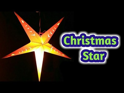 Christmas star making with one chart easily at home