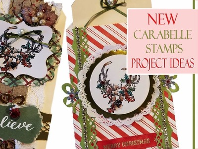 Coloring & Project Ideas for New Christmas Carabelle Stamps (2018) - PART 1