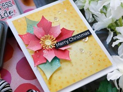 Creative Spark with Laura Bassen: Creating a Christmas Poinsettia Card