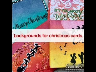 Day #1: Backgrounds for Christmas Cards - 25 days of Christmas Video Series