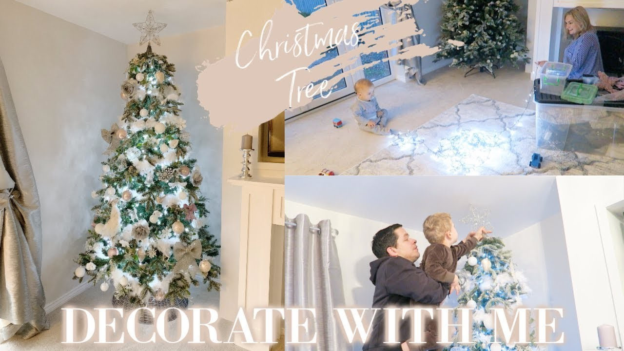 DECORATING MY CHRISTMAS TREE 2018 | DECORATE WITH ME | WHITE AND BLUSH PINK | CHRISTMAS DECOR IDEAS