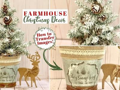 DIY Image Transfer | Farmhouse Christmas DIY | Dollar Tree DIY | Ashleigh Lauren