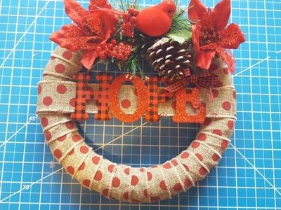 Dollar Tree Burlap Christmas Wreath