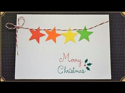 Easy Christmas Card Making Idea | DIY Christmas Cards #christmascards | Handmade Christmas Card DIY