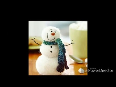 Easy Christmas craft Ideas For Kids School (Snowman)????☃️☃️