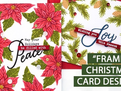 """Easy """"Framed"""" Christmas Card Designs with Hero Arts   Color Layering with Yana Episode #13"""