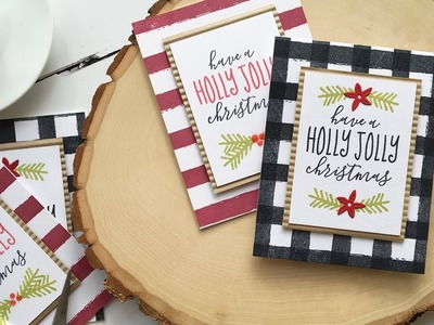 Easy Homespun Christmas Cards w.Dawn ft. HOLLY JOLLY CHRISTMAS