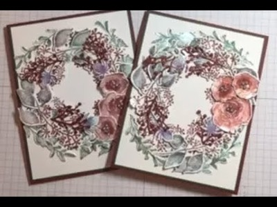 First Frost Wreath Christmas Card & give away at the end of the video